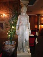 Lifesize Greek Statues and Pillars