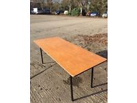 2x 6' wooden trestle table