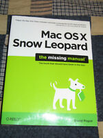 MacOSX Snow Leopard the missing manual. $10.00