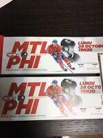 2 billets Desjardins Canadiens vs Philadelphia - sous cost
