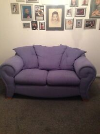Solid 2 seater sofa