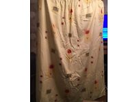 2 pair of matching curtains