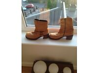 Ladies size 7 tan ankle boots