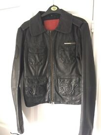 Superdry women's Leather Jacket M