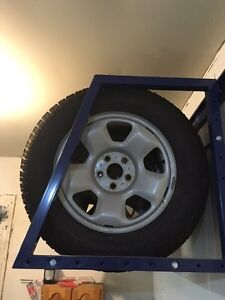 4 snow tire's on rim's Kingston Kingston Area image 1
