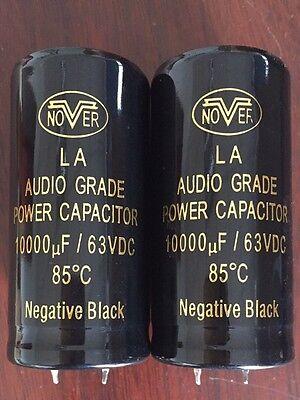 2pcs 10000uf 63v Nover Audio Crade Power Capacitor Diy Hi-fi Stereo Cap
