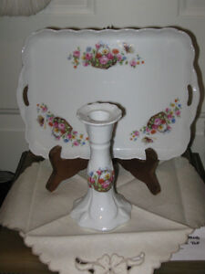 ..A GORGEOUS 2-PIECE CHINA [CZECH.] VANITY SET....