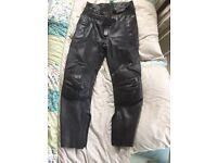 Frank Thomas Motorbike Leather Trousers