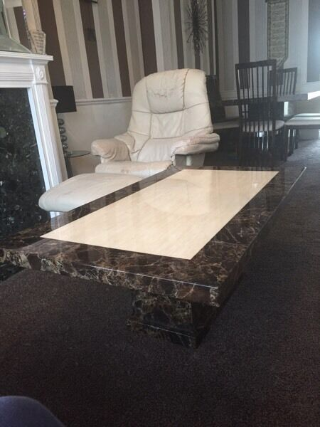 Harvey S Marble Patra Dining Table And 6 Chairs And