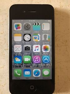 Black IPhone 4s 8gb with otterbox
