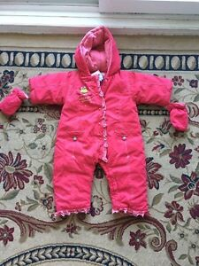 Baby girl new snowsuit from Clement. AVAILABLE