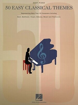 Classical Themes Easy Piano - 50 Easy Classical Themes Sheet Music Easy Piano SongBook NEW 000311215