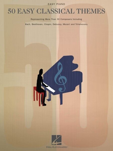 50 Easy Classical Themes Sheet Music Easy Piano SongBook NEW 000311215