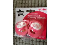 Brand new - Tommee Tippee Cherry Soothers Dummies