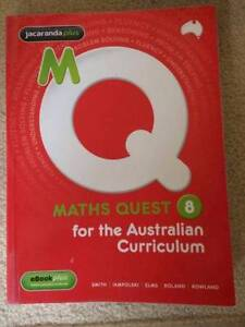 AS NEW MATHS QUEST 8 FOR THE AUSTRALIAN CURRICULUM Westlake Brisbane South West Preview