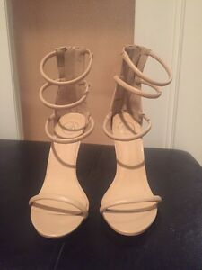 Size 9 Nude Strappy Sandals