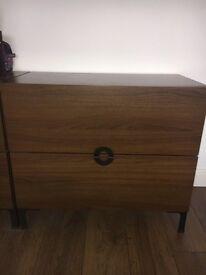 IKEA walnut bedroom draws & cabinet