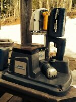 18 volt metal cutting saw with stand.
