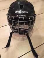BAUER helmet with cage for boys