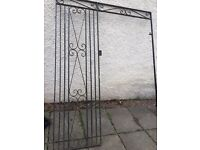 Wrought iron gate and frame