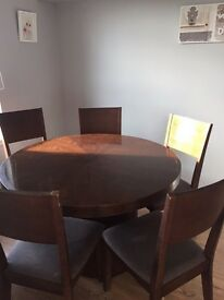 Large wooden round dining table - up cycle project