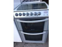 Hotpoint cooker grey colour top Gas and grill and fan oven electric for sale