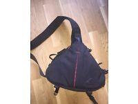Medium Pro Sling All Weather Shoulder DSLR Bag with Lens and Tripod Holder
