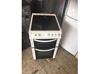 Bush white ceramic halogen electric cooker 50cm
