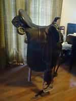 Australian Stock Saddle with horn and large seat