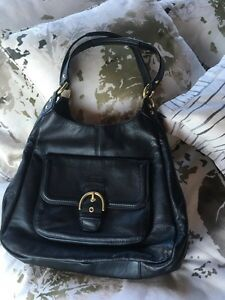 100% authentic black coach handbag