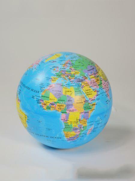rotierender Erdkugel Rotierender Weltkugel mit sicherem B/ürodekor f/ür Kinder und Erwachsene English Blue Stand World Globe