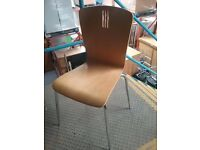Wooden Stacking Chair With Chrome Legs