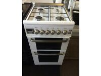 White leisure 50cm gas cooker grill & double oven good condition with guarantee