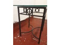 GONE - FREE John Lewis Glass Top Dining Table, 6 Chairs & Side Table