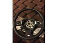 Audi A4 steering wheel b8 leather multi function