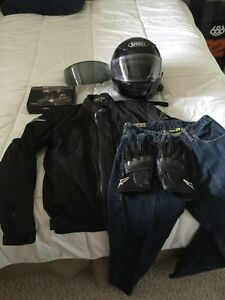 Full set of motorcycle riding gear