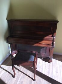Antique piano and stool