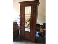 Beautiful Victorian wooden wardrobe