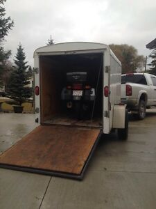 RENTAL TRAILER 5x8 ENCLOSED, BEST RATES!