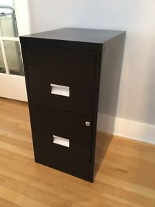 2 drawer black filing cabinet