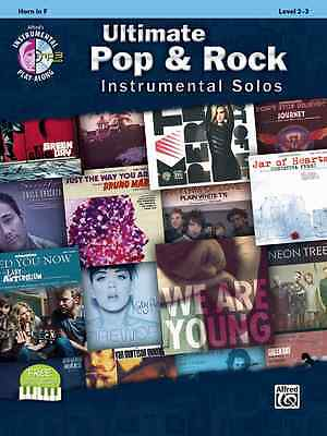 ULTIMATE POP & ROCK INSTRUMENTAL SOLOS-FRENCH HORN-MUSIC BOOK/CD BRAND NEW -