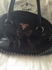 Authentic army Prada purse with studs