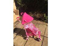 Girls folding Stroller Pram
