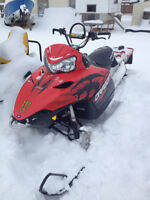 2010 Polaris RMK 800cc with a 155 track