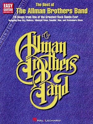 The Best of the Allman Brothers Band Sheet Music Easy Guitar NEW 000702040