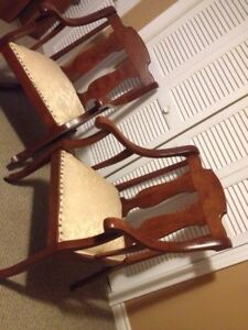 set of 2 antique parlor chairs