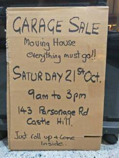 Garage Sale / Moving house everything must go.