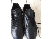 Black Adidas rugby boots, size 5.5