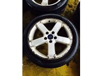 "17"" GENUINE FORD FOCUS MONDEO ALLOY WHEELS GALAXY TRANSIT CONNECT SET OF 4"