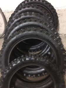 "Very little used tires 10"", 12"" and 14"""